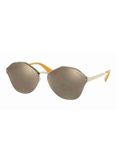 Prada Prada 64Ts Zvn1C0 66 Ekartman Kadın Güneş Gözlüğü Altın